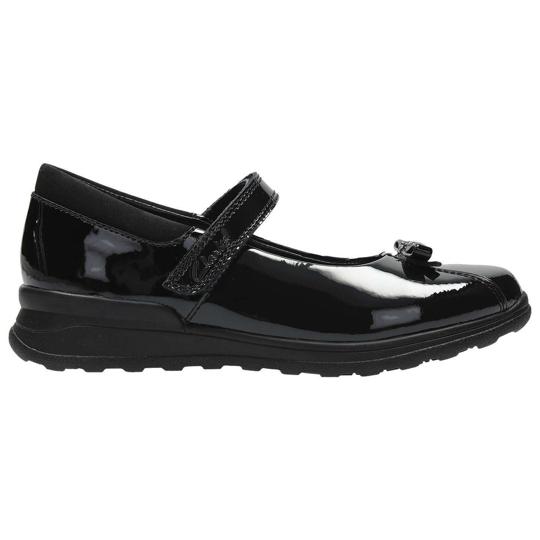 Clarks MarielWish Inf Girl's School Shoes 12.5 Black Patent k6Z3m1