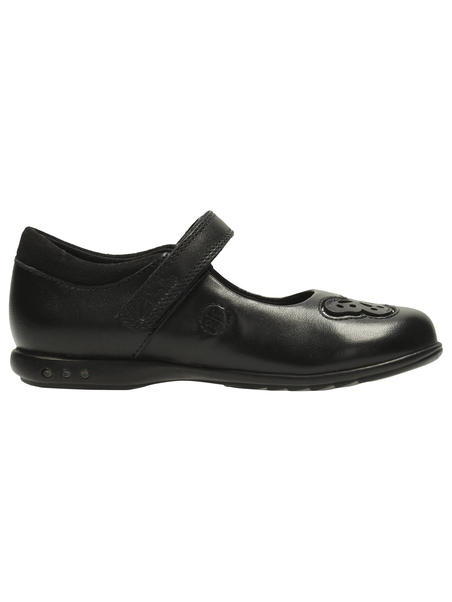 TRIXI ROSE INF F /& G FIT GIRLS CLARKS BLACK LEATHER SHOES STYLE