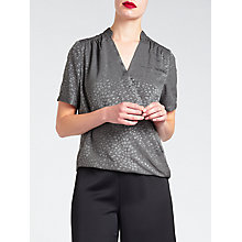 Buy Bruce by Bruce Oldfield Faconne Shirt, Grey Online at johnlewis.com