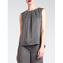 Buy Bruce by Bruce Oldfield Faconne Top, Grey Online at johnlewis.com
