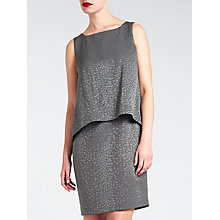 Buy Bruce by Bruce Oldfield Faconne Dress, Grey Online at johnlewis.com