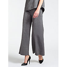 Buy Bruce by Bruce Oldfield Faconne Wide Leg Trousers, Grey Online at johnlewis.com