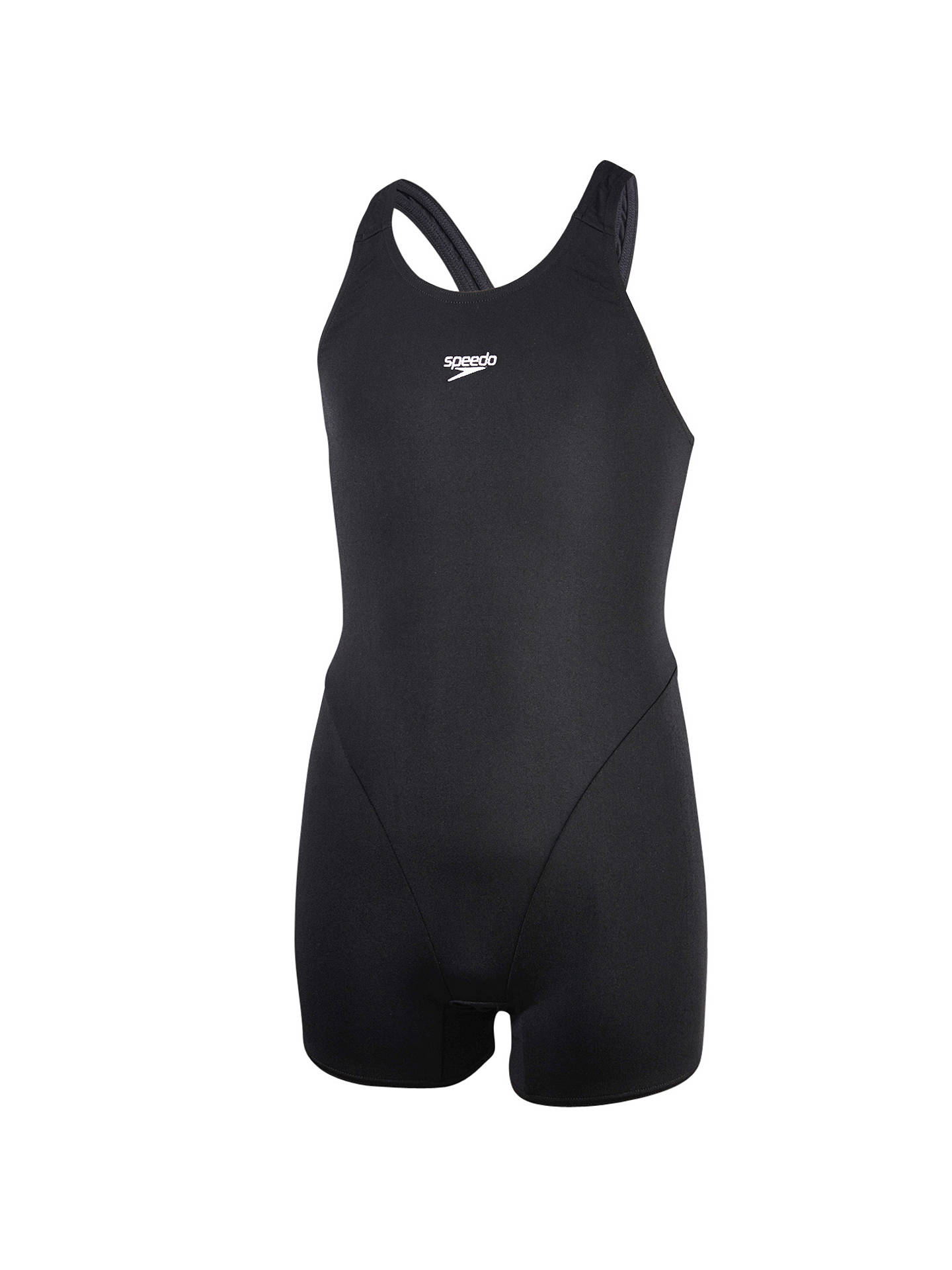 "BuySpeedo Girls' End+ Legsuit, Black, Chest 24"" Online at johnlewis.com"