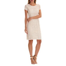 Buy Betty Barclay Lace Shift Dress, Light Almond Online at johnlewis.com