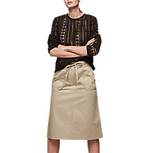 Buy Gerard Darel Jossie Skirt, Beige Online at johnlewis.com