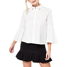 Buy Miss Selfridge Frill Hem Mini Skirt, Black Online at johnlewis.com