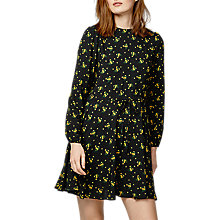 Buy Warehouse Daisy Bunch Skater Dress, Black Online at johnlewis.com