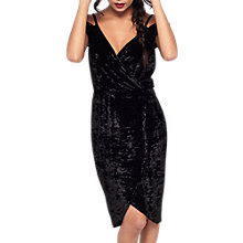Buy Miss Selfridge Velvet Wrap Dress, Black Online at johnlewis.com