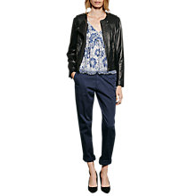 Buy French Connection Gough Leather Jacket, Black Online at johnlewis.com