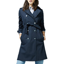 Buy Warehouse Trench Coat, Navy Online at johnlewis.com