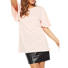 Buy Miss Selfridge Frill Sleeve Tunic Top Online at johnlewis.com