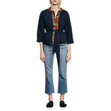 Buy French Connection Parsi Quilted Cotton Kimono Jacket, Indigo Online at johnlewis.com