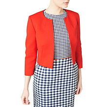 Buy Precis Petite Textured Cropped Jacket, Coral Red Online at johnlewis.com