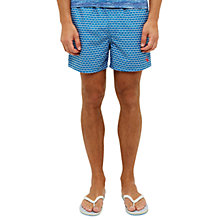 Buy Ted Baker Baly Geo Print Swim Shorts, Blue Online at johnlewis.com