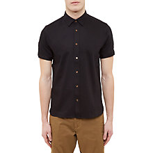 Buy Ted Baker Ital Modern Fit Oxford Shirt, Black Online at johnlewis.com