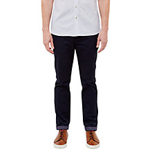 Buy Ted Baker T for Tall Exmortt Geo Print Trim Chinos, Navy Online at johnlewis.com