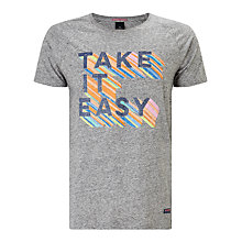 Buy Scotch & Soda Take It Easy T-Shirt, Grey Melange Online at johnlewis.com