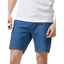 Buy Selected Homme Nolan Dot Print Shorts, Light Blue Denim Online at johnlewis.com