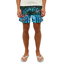 Buy Ted Baker Mindoe Flamingo Print Swim Shorts, Green/Multi Online at johnlewis.com