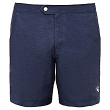 Buy Ted Baker Pinox Oxford Swim Shorts, Navy Online at johnlewis.com