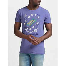 Buy Scotch & Soda Power Lounging T-Shirt, Purple Stone Melange Online at johnlewis.com