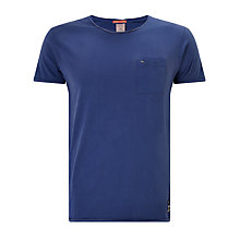 Buy Scotch & Soda Twist Neck Pocket T-Shirt, Denim Blue Online at johnlewis.com