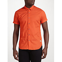 Buy Scotch & Soda Short Sleeve Shirt, Orange Online at johnlewis.com