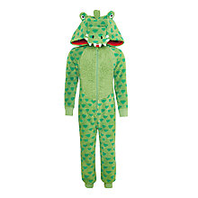 Buy John Lewis Children's Crocodile Onesie, Green Online at johnlewis.com