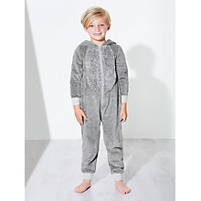 Buy John Lewis Children's Alien Onesie, Grey Online at johnlewis.com
