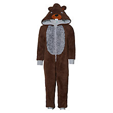 Buy John Lewis Children's Beaver Onesie, Brown Online at johnlewis.com