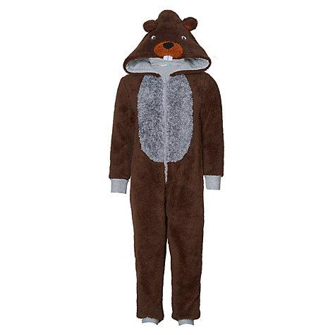 Buy john lewis childrens beaver onesie brown john lewis buy john lewis childrens beaver onesie brown online at johnlewis negle Choice Image