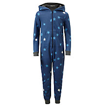 Buy John Lewis Children's Sweat Star Print Onesie, Blue Online at johnlewis.com