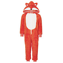Buy John Lewis Children's Fox Onesie, Orange Online at johnlewis.com