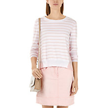 Buy Marc Cain Contrast Back Stripe Jumper, Pink Online at johnlewis.com
