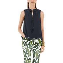 Buy Marc Cain Double Layer Blouse, Navy Online at johnlewis.com