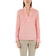 Buy Marc Cain Pintuck Detail Blouse, Coral Online at johnlewis.com