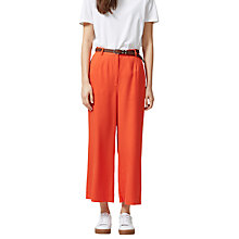 Buy Selected Femme Ravan Wide Leg Cropped Trousers, Mandarin Red Online at johnlewis.com