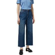 Buy Selected Femme Cropped Wide Leg Jeans, Bay Blue Online at johnlewis.com