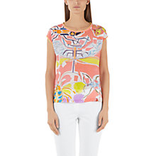 Buy Marc Cain Printed Silk Front Shirt, Coral Online at johnlewis.com