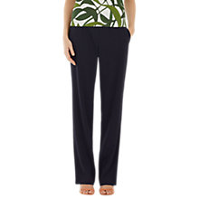 Buy Marc Cain Straight Leg Crepe Trousers, Navy Online at johnlewis.com