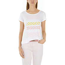 Buy Marc Cain Beaded Floral T-Shirt, White Online at johnlewis.com
