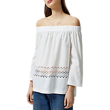 Buy Selected Femme Charline Off Shoulder Top, White Online at johnlewis.com