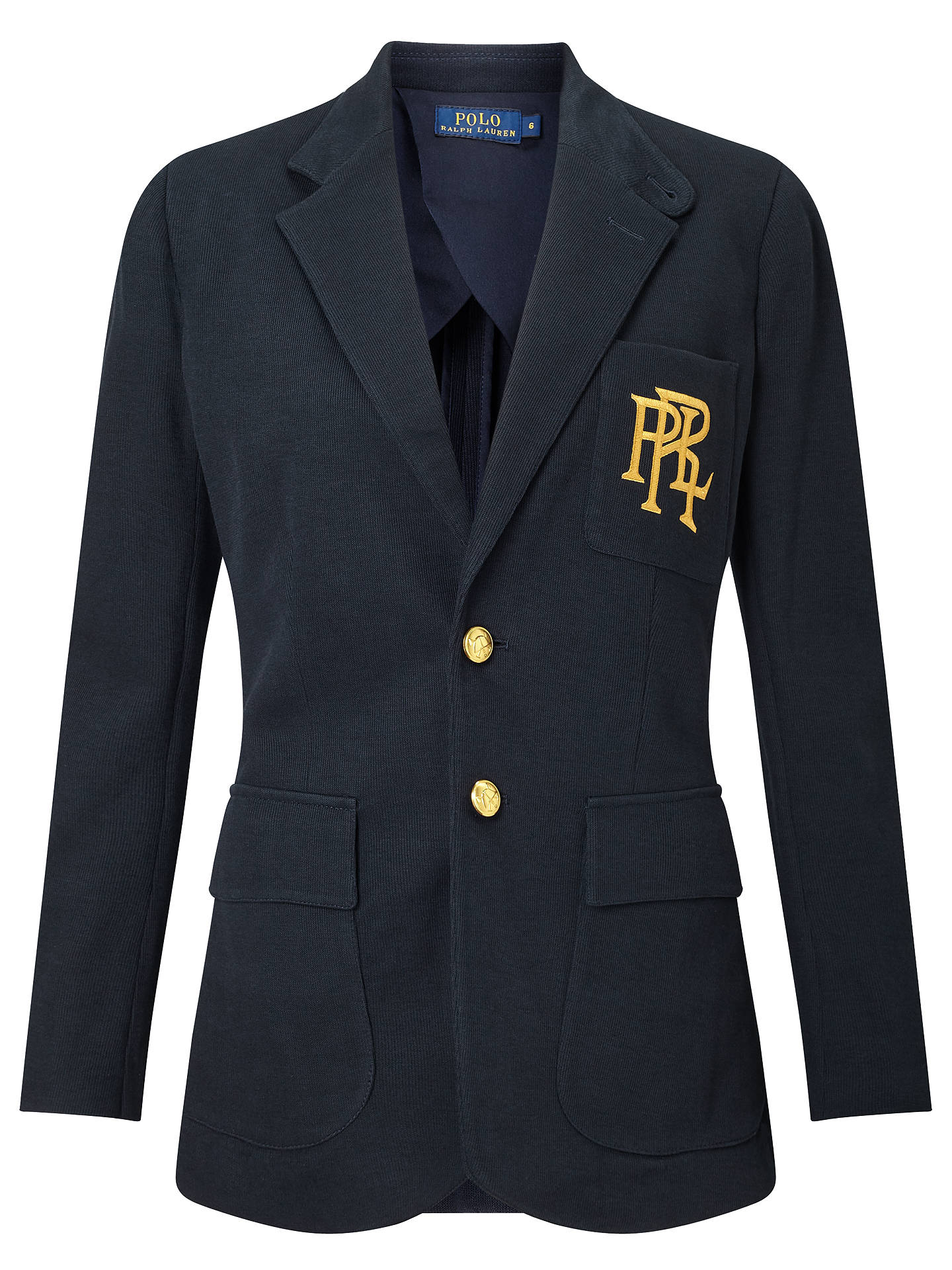 Polo Ralph Lauren Knit Cotton Blazer At John Lewis Amp Partners