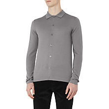 Buy Reiss Oracle Merino Wool Polo Cardigan Online at johnlewis.com