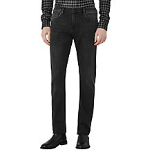 Buy Reiss Compton Washed Slim Jeans, Black Online at johnlewis.com