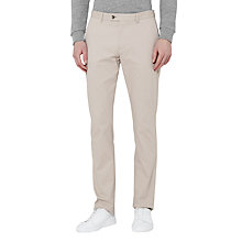 Buy Reiss Griffin Washed Twill Trousers, Stone Online at johnlewis.com