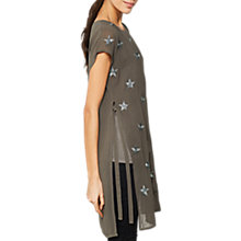 Buy Mint Velvet Star Printed Tunic, Khaki Online at johnlewis.com