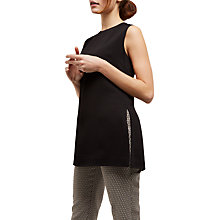 Buy Jaeger Split Detail Top, Black Online at johnlewis.com