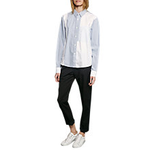 Buy French Connection City Striped Shirt, Meru Blue/Summer White Online at johnlewis.com