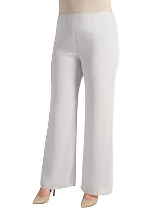 Chesca Satin Trim Chiffon Trousers
